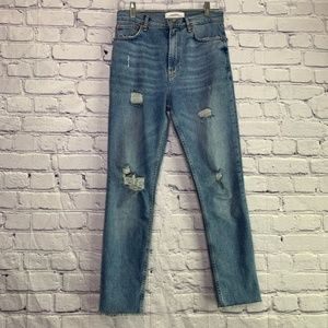 Zara | High Rise Distressed Skinny Jean | 2